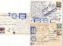 1998 3 CARTOLINE TASSATE MECCANICA AZZURRA DIVERSE TASSAZIONI PER CAMBIO TARIFFA - Unclassified