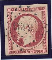17 A 80 C Carmin TB. - 1853-1860 Napoleon III
