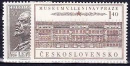 ** Tchécoslovaquie 1954 Mi 844-5 (Yv 748-9), (MNH) - Ungebraucht