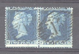 0gb  0028  -  GB  :  Yv  15  (o)     Paire  NC-ND - Used Stamps