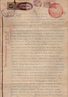INDE - Etat Princier - PUDUKKOTTAI - Revenue - 1927 - Cachets - 5 Pages -Type 20 N°212 - 5 Rupees - Altri