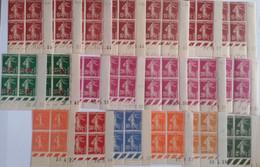 FRANCE -  32 Coins Datés De Semeuses Camées Et Lignées - Majorité ** (MNH) - 5 Photos - Sonstige