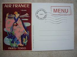 Avion / Airplane / AIR FRANCE / Paris - Tokyo - Menu / Airline Issue - 1946-....: Era Moderna