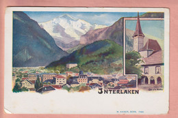 OUDE POSTKAART ZWITSERLAND -  1900'S - INTERLAKEN - ARTIST SIGNED - BE Berne