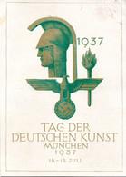 """(L-N) DR  Amtl. Festpostkarte """"TAG DER EUTSCHEN KUNST-MÜNCHEN 1937"""" EF Mi 516 MWSt 18.7.1937 MÜNCHEN - Covers & Documents"""