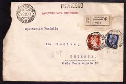 F5851  - RACCOMANDATA ESPRESSO R.S.I. - Marcofilía