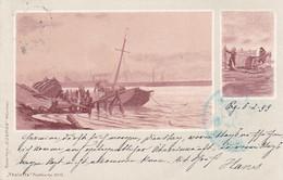 4838  60 Thalatta-AK Das Meer (2 Bilder), KOSMOS-Verlag München,  1899 - Andere Zeichner