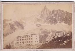 74 CHAMONIX Carte Photo Année 1890 Montenvert Aiguille Du Dru ,sur Suport Carton - Chamonix-Mont-Blanc