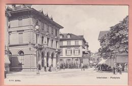 OUDE POSTKAART ZWITSERLAND -     INTERLAKEN - POSTPLATZ - BE Berne
