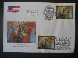 Österreich- Christkindl 21.11.2008 FDC Und Kombi Mattsee 21.11.2008 - 2001-10 Lettres