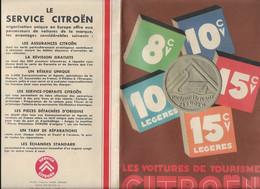 DEPLIANT PUB CITROEN 1933  TOUS LES MODELES ET DETAILS 9 FOIS 16 X 23 CM  DEPLIE 71 X 46 - Publicidad