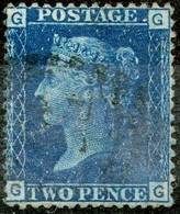 Great Britan,1869,Queen Victoria 2 Pence,perfin:J.T.Morton - London,pl.15,used,as Scan - Used Stamps