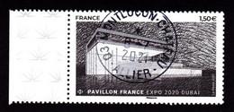 """FRANCE 2021NC -  Timbre Oblitéré Gommé Dentelé """" Pavillon France Expo De DUBAI 2020 """" (beau Cachet Rond) - 2010-.. Matasellados"""