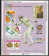 Olympische Spelen  1992 , Bolivie - Blok Postfris - Ete 1992: Barcelone