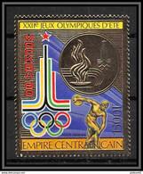 Olympische Spelen  1980 , Centraal - Afrika , Zegel Postfris - Ete 1980: Moscou