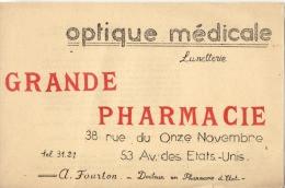 BUVARD  -  Grande Pharmacie  - Clermont Ferrand - Optique Medicale - A