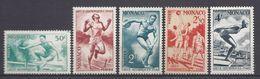 ⭐ Monaco - YT N° 319 à 323 - Neuf Sans Charnière - 1948 ⭐ - Nuevos