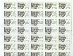 Stamps EGYPT 2019 MAHATMA GANDHI INDIA 150 AN 2ND GLOSSY PRINTING FULL SHEET - Neufs