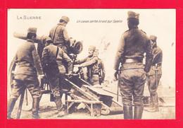 Guerre-14-18-(399)A108  Carte Photo, Un Canon Serbe Tirant Sur Semlin, Animation, Cpa BE - Oorlog 1914-18
