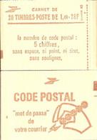 """CARNET 2102-C 7 Sabine De Gandon """"CODE POSTAL"""" Daté 14/8/80 Fermé. Parfait état Bas Prix TRES RARE. - Usados Corriente"""