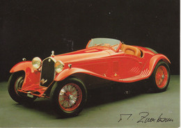 Alfa Romeo 1750 Sports  (1934)   - Photocard Michael Zumbrunn  -   Carte Postale - Voitures De Tourisme