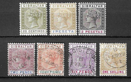 Gibraltar YT N° 30/32 Neufs * Et N° 33/36 Oblitérés.  B/TB. A Saisir! - Gibraltar