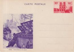 "FRANCE : ENTIER POSTAL . 90 Cts ROUGE . ESSAI VUE . NON ADOPTEE . "" LE BOUQUINISTE EN VIOLET "" . 1936 . - Cartoline Postali E Su Commissione Privata TSC (ante 1995)"