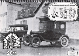 "Zwart/wit Kalender 2011 Leffe,  Maand Oktober - November  ""A. Buzin"" - 1985-.. Vogels (Buzin)"
