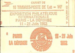 """CARNET 2102-C 5 Sabine De Gandon """"PHILEXFRANCE 82"""" Daté 3/12/80 Fermé Bas Prix Parfait état RARE - Usados Corriente"""