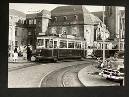Photographie Originale De J.BAZIN : Tramways De LUXEMBOURG : Gare  En 1956 - Trains