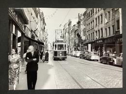Photographie Originale De J.BAZIN : Tramways De LUXEMBOURG : Grand' Rue  En 1957 - Trains