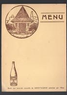 Plancoet ( 22 Côtes D'Armor)  Menu ( Neuf) Avec Publicité Pour Eau Minérale SOURCE SASSAY (M2205) - Menú