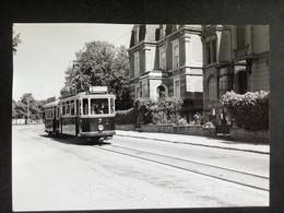 Photographie Originale De J.BAZIN : Tramways De LUXEMBOURG : Avenue De La Fayencerie  En 1953 - Trains