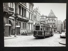 Photographie Originale De J.BAZIN : Tramways De LUXEMBOURG : Palais Grand Ducal En 1957 - Trains