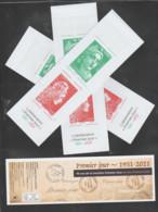 """FRANCE / 2021 / Y&T N° 5506/5508 ? En Carnet N° 1528 Complet ** (Bande-carnet """"50 Ans De La Mention Premier Jour"""") X 3 - Commemoratives"""