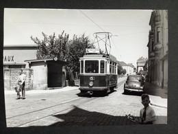 Photographie Originale De J.BAZIN : Tramways De LUXEMBOURG : LIMPERTSBERG En 1953 - Trains