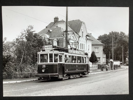 Photographie Originale De J.BAZIN : Tramways De LUXEMBOURG : WALFERDANGE En 1953 - Trains