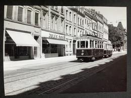 Photographie Originale De J.BAZIN : Tramways De LUXEMBOURG : Avenue MONTEREY  En 1953 - Trains