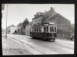 Photographie Originale De J.BAZIN : Tramways De LUXEMBOURG : MERL En 1957 - Trains