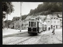 Photographie Originale De J.BAZIN : Tramways De LUXEMBOURG : EICH ( Place DARGENT)  En 1952 - Trains
