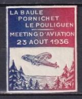 1936 - VIGNETTE MEETING AVIATION LA BAULE / PORNICHET / LE POULIGUEN ** MNH LUXE - Aviation