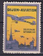 1910 - VIGNETTE MEETING AVIATION DIJON ** MNH LUXE - Aviation