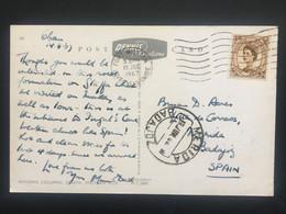 GB 1967 Postcard Sent From Fort William Scotland To Badajoz Spain Tied With 5d Wilding - Brieven En Documenten