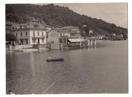 """12820 """" PONTE TRESA-LAGO DI LUGANO-18/8/52-CAFFE' RISTORANTE CRIVELLI """" VERA FOTO - Plaatsen"""