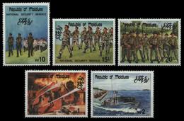 Malediven 1985 - Mi-Nr. 1097-1101 ** - MNH - Armee / Army - Maldives (1965-...)