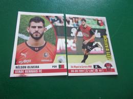 PANINI Foot 2013-14 N°383 & 384  STADE RENNAIS FC Nélson Oliveira - Französische Ausgabe