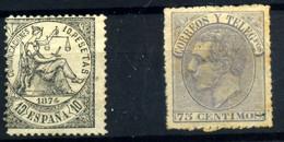 España Nº 152 Y 212T. Año 1874/82 - Used Stamps
