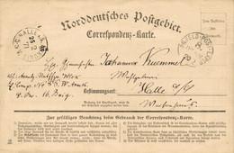 1870/71 FeldpostCorrespondenzkarte Norddeutsches Postgebiet Stpl. K.PR. FELDPOST-EXPED.  8. INF.DIV N. Halle - Marcofilie - EMA (Print Machine)