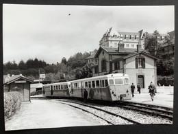 Photographie Originale De J.BAZIN :Réseau Breton : LIGNE De CHATEAULIN à CARHAIX: Gare CHATEAULIN - VILLE  En 1965 - Treinen