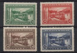 Saint Marin (1932) N 164 A 167 (charniere) - Nuevos